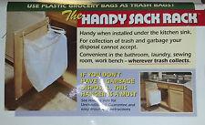 Handy Sack Racks.  Get organized. Turn Grocery Bags into a Waste Basket. 3 RACKS