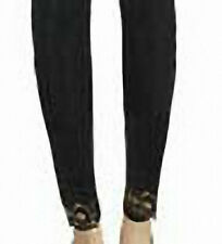 Girls Classic StretchFootless Black Lace Trim Pantyhose Tights Sz 9-12