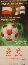 mint TICKET 26.9.2013 Women's Polska Polen - Färoer