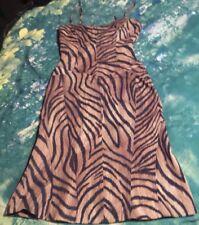 Robe stretch moulante imprimé fauve Alain Manoukian à bretelles taille S 36