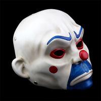 Resin Batman Joker Clown Bank Robber Masks The Dark Knight Scale Mask Costume AU