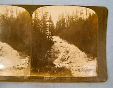 Stereoview H C White Picturesque Virginia Cascade Where The Water Slides O AS IS