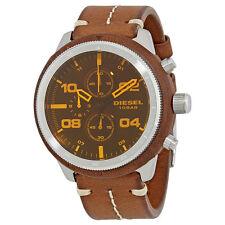 Diesel Padlock Brown Dial Mens Chronograph Watch DZ4440