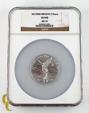 2015MO Mexico 2 Onza Silver Round NGC Graded MS 70