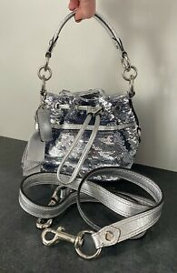 COACH 18726 POPPY SEQUINED CINCH BAG! SUPER RARE AND GORGEOUS BRAND NEW!