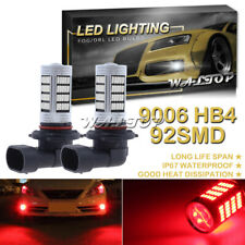 2x 92SMD 9006 HB4 Red Projector LED Fog Light Bright Bulb for Toyota Prius 04-09
