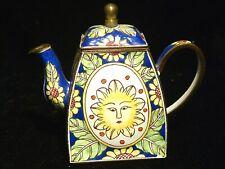 Charlotte Di Vita Miniature Enamel Teapot Trade + Aid - Sun UK No. 436