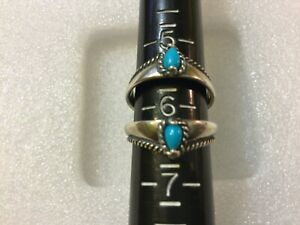 Carolyn Pollack 925 Sterling Silver  Blue Turquoise Ring Sz 6