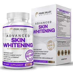 L Glutathione Collagen Skin Whitening Lightening Dark Spots Acne & Scar Removal