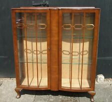 Vintage Glazed China Display Cabinet ~ with Glass Shelves