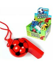 Bulk Wholesale Job Lot 120 Football Whistles Toys