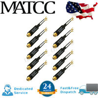 10X Transformer Coaxial Match UHF VHF FM Plated 75 Ohm to 300 Ohm AV Adapter US