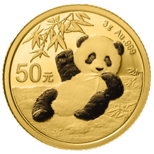 China - 50 Yuan 2020 - Panda - Anlagemünze - 3 gr Gold ST