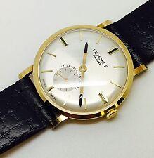 1973 Vintage 9ct Gold  Wind Up Le Monde De Luxe Gents strap watch original box