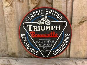 Cast Iron TRIUMPH motorcycle Sign Wall Plaque  Shed Garage Sign
