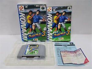 N64 -- Jikkyou World Soccer 3 -- Boxed. Nintendo 64, JAPAN Game Nintendo. 18095