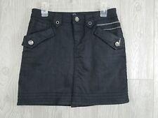 Bram's Paris Women's Size Small Dark Wash Denim Stretch Skirt w/ Pockets