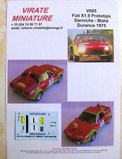 V005 FIAT X1/9 PROTOTIPO ABARTH WINNER RONDE DURANCE 1975 B.DARNICHE VIRATE