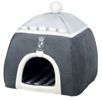 Trixie Grey My Prince Cuddly Cave Small Dog Cat Bed foam padding 30 × 32 × 30 cm