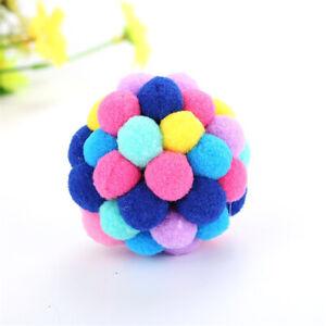 Bunte Katze Ball Katze Spielzeug Bälle Haustier Interaktives Plüsch Softball