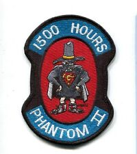 McDONNELL F-4 F-4G PHANTOM 1500 FLIGHT HOURS USAF Fighter Squadron Jacket Patch