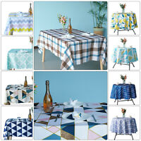 POLYESTER TABLECLOTH Home Dining Table Protector Round/Rectangular Table Cover