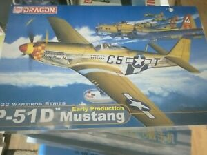 Dragon 1/32 P-51D Mustang early.  New. Parts still sealed.