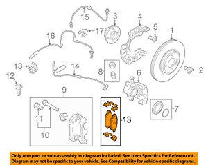 MINI OEM 11-16 Cooper Countryman Brake-Front Pads 34119808705