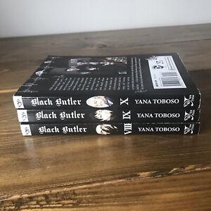 Black Butler Manga English Language Vol 8 9 10 8-10 3 Books Very Good Condition