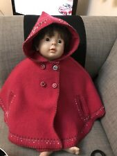 BABY RED KIDS GIRLS HOODED WINTER CAPE COAT PONCHO SIZE 12-24 MONTH