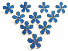 MASONIC SET OF 10 FLOWER FORGET ME NOT 11MM ENAMEL LAPEL PIN BADGES
