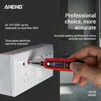 Electrician AC/DC 12~250V LCD Electric Test Pen Voltage Digital Detector Tester
