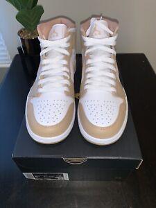 Nike Air Jordan 1 Mid Hemp Tan Gum Size 8.5 554724-271 W/Receipt