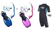 Mares Pirate Sharky Flex Snorkel Set Size 27-36 Var. Colors
