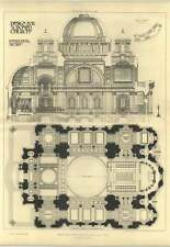 1904 Section And Plan, Design For A Domed Church, Lionel Grace