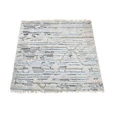 "2'x2'1"" luxurious Plush Pure Silk With Oxidized Wool Handmade Rug R46725"