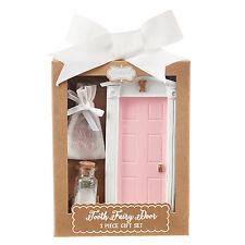Mud Pie MK6 Wall Decor Kids Baby Girl Pink Tooth Fairy Door Gift Set 2002207