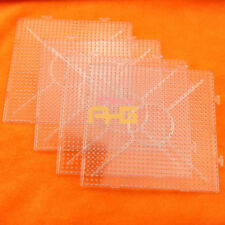 4X Plastic Clear Square Large Pegboard Board for Hama Fuse Perler Bead 145x145mm