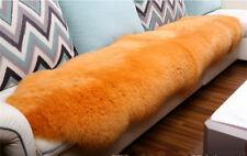 180x65cm Double Pelt Sheepskin Fur Rug Champagne Real Australian 6'x2'Fur Carpet