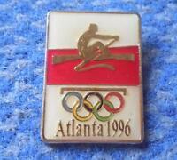 NOC POLAND OLYMPIC ATLANTA 1996 ROWING PIN BADGE