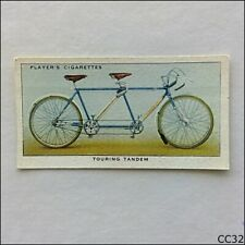 John Player Cycling #31 Touring Tandem 1939 Cigarette Card (CC32)