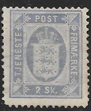 Denmark stamps 1871 Yv Official 1 Mlh Vf