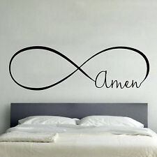 AMEN INFINITY LOVE Wall Art Decal Quote Words Lettering Home Decor DIY