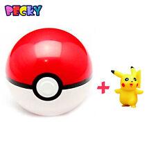2017 Pokemon Pokeball Pop-up Poke Ball Fun Toys + Pikachu  7cm As Gift For Kids