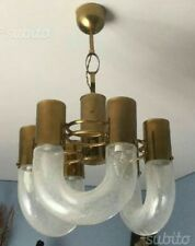 CARLO NASON CHANDELIER  6 LIGHTS. RARE GOLD . 60s