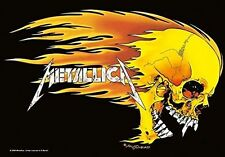 METALLICA - FLAMING SKULL - FABRIC POSTER - 30x40 WALL HANGING - HFL0311