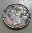 Straits Settlements VICTORIA 1893 Silver 10 CentsAU/UNC