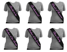 Black Sash Pink Writing Hen Night Party Sashes Bride To Be Bridesmaid Mother