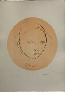 Ugo Capocchini litografia Ricordo d'Ingres 70x50 firmata numerata pubblicata '70