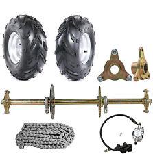 "New listing 32"" Drift Trike Go Kart Rear Axle Kit Sprocket & Hub Brake Assembly 7"" Wheels"